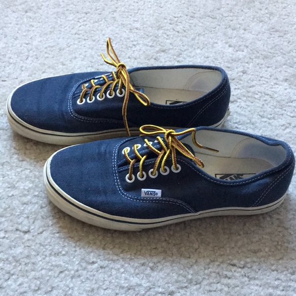 0e88b5312b62 Men s Vans for JCrew in Navy Washed Canvas. M 5a5b797ea4c485ad80613264.  Other Shoes ...